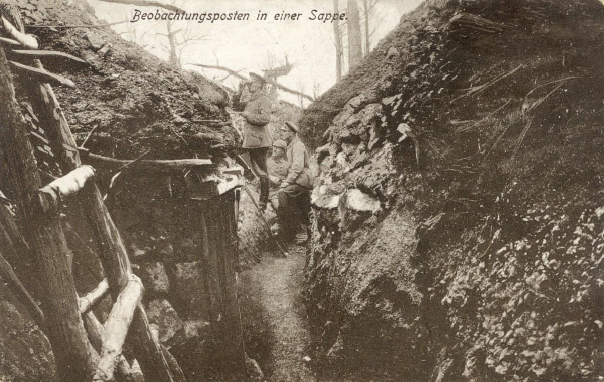 Feldpostkarte Erster Weltkrieg Beobachtungsposten