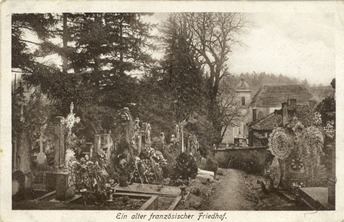 Feldpostkarte Erster Weltkriek Französischer Friedhof